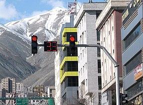 Traffic light in Tehran