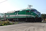 Trainspotting GO train -918 headed by MPI MP40PH-3C -609 (8123440483).jpg