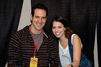 Laura Bailey (voice actress) - Image: Travis Willingham and Laura Bailey, New York Anime Festival 2009