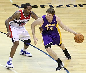Troy Murphy - Murphy (right) with the Lakers