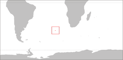 Location of Tristan da Cunha in the South Atlantic Ocean