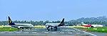 Trivandrum International Airport Aircrafts in Runway.jpg