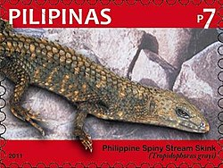 Tropidophorus grayi 2011 stamp of the Philippines.jpg