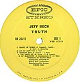 Truth by Jeff Beck (Vinyl-Side 1) (US-1968).jpg