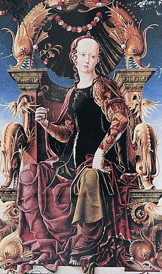 Cosimo Tura - An Allegorical Figure of Calliope, c. 1460