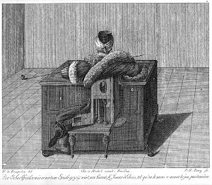 The Turk - An engraving of the Turk from Karl Gottlieb von Windisch's 1784 book Inanimate Reason