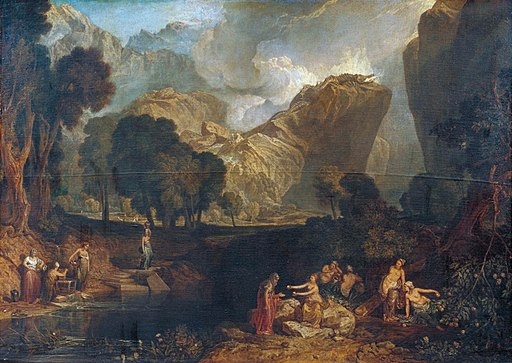 Turner, Joseph Mallord William - The Goddess of Discord Choosing the Apple of Contention in the Garden of the Hesperides - c. 1806