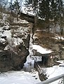 Turrachtal- Alter Zutritt, oben Holzbrücke, unten der schwarzenbegsche Durchbruch.jpg