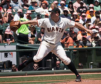 Ty Blach - Blach pitching in 2017