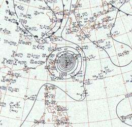 Typhoon Sarah surface analysis September 15, 1959.png