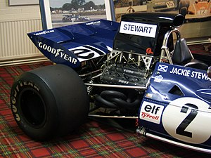 Formula One car - The Ford Cosworth DFV engine became the de facto power plant for many private teams, with a record 167 wins between 1967 and 1983 and helped win 12 driver titles