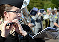 U.S. Navy Musician 3rd Class Rachel Elam, with the U.S. Naval Forces Europe Band, plays the piccolo during a rehearsal for the Royal Edinburgh Military Tattoo in Edinburgh, Scotland, July 31, 2012 120731-N-VT117-1053.jpg