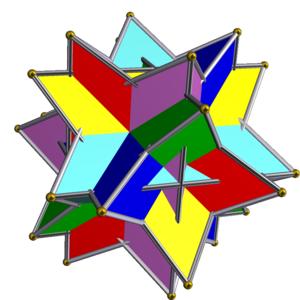 Uniform polyhedron compound - Image: UC03 6 tetrahedra
