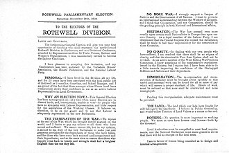 William Lunn - Image: UK Election Flyer 1918 William Lunn MP Rothwell Sheet 1