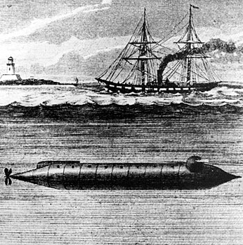 The Alligator was the first submarine purchased by the U.S. Navy. It contained two crude air purifiers, a chemical based system for producing oxygen and a bellows to force air through lime. Text & photo courtesy of chinfo.navy.mil. http://www.navsource.org/archives/08/08444.htm