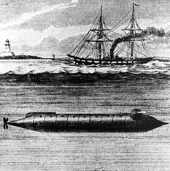 The Alligator was the first submarine purchased by the U.S. Navy. It contained two crude air purifiers, a chemical based system for producing oxygen and a bellows to force air through lime. Text & photo courtesy of chinfo.navy.mil.