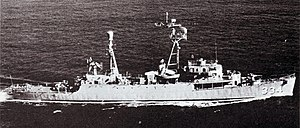USS Forster (DER-334) underway, circa in 1957