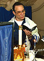 US Navy 021130-N-1159M-002 Jewish chaplain conducts services aboard the aircraft carrier USS Abraham Lincoln.jpg