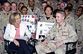 US Navy 030114-N-8191S-001 NBC Today Show anchorwomen, Katie Couric, broadcasts live from Prince Sultan Air Base, Saudi Arabia, as part of their coverage of Operation Southern Watch.jpg