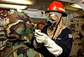 US Navy 030302-N-6077T-002 Chemical, Biological warfare training aboard USS Higgins DDG 76.jpg