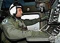 US Navy 030611-N-4374S-007 Aviation Warfare Systems Operator 2nd Class Heath Moore tracks a submarine contact aboard an SH-60B Seahawk during a anti-submarine warfare flight mission.jpg