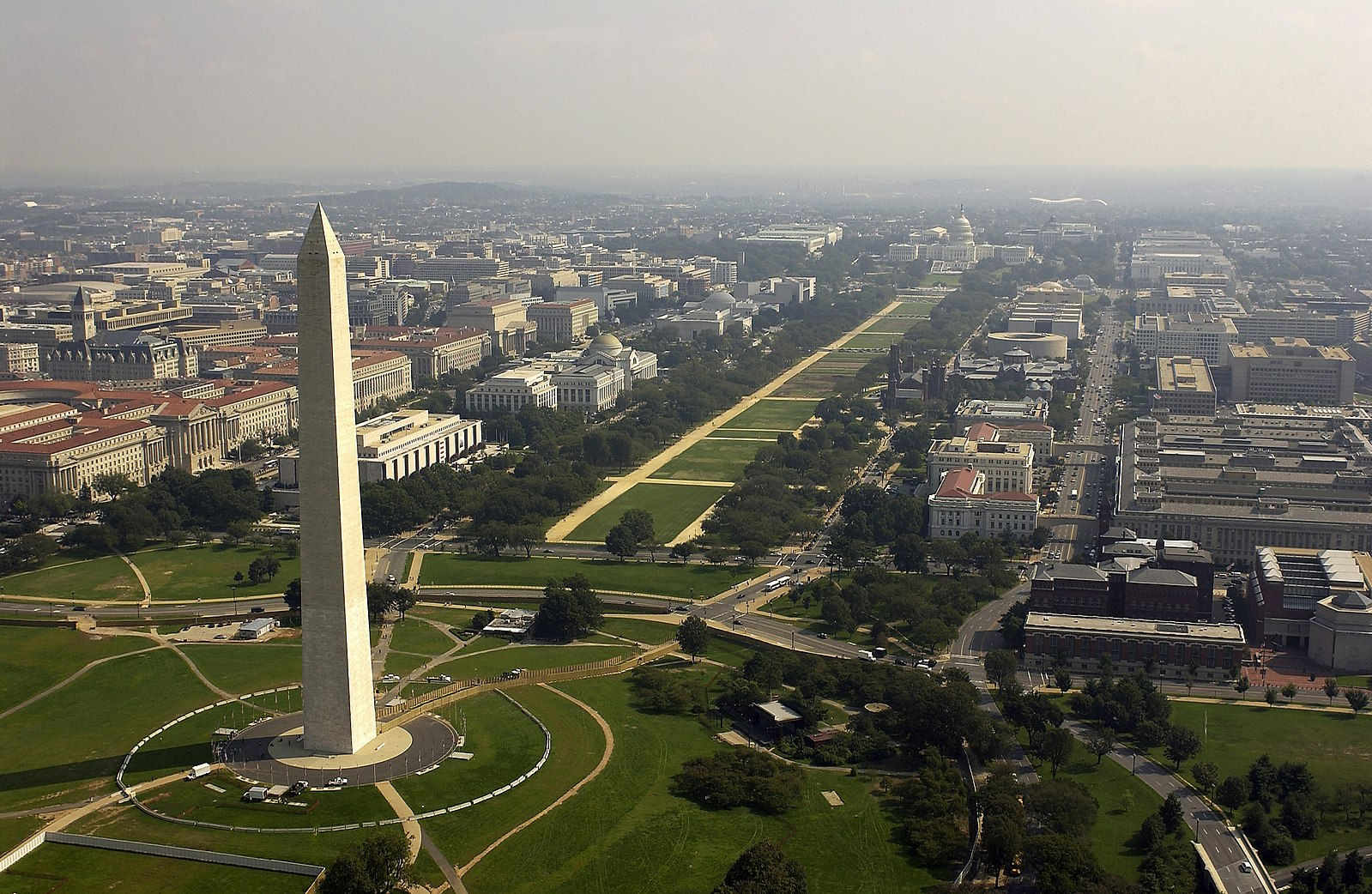 Aerial View of Washington Monument