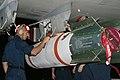US Navy 050217-N-3122S-004 Aviation Ordnanceman Airman Llyod Lewis finishes loading a MK-65 Quickstrike mine on a P-3C Orion.jpg
