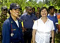 US Navy 070815-N-1752H-174 The Honorable Leslie V. Rowe, U.S. Ambassador to Papua New Guinea, Solomon Islands and Vanuatu, takes a tour of Miak Health Clinic with Lt. Cmdr. Leila Williams.jpg
