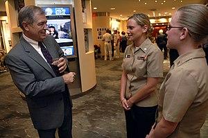 James L. Herdt - Herdt talking with U.S. Navy sailors in June 2009.