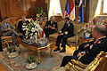 US Navy 091111-N-8273J-075 Chief of Naval Operations (CNO) Adm. Gary Roughead, middle, meets with his counterpart, Commander-in-Chief of Egyptian Naval Forces Vice Adm. Mohab Mameesh, and other senior Egyptian leadership.jpg