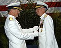 US Navy 091113-N-7032L-001 Rear Adm. Jonathan W. White pins a Legion of Merit Medal on Rear Adm. David W. Titley.jpg