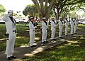 US Navy 101111-N-3560G-006 Naval Station Regional Ceremonial Guard conducts a 21-gun salute in honor of Sailors and submarines lost during World Wa.jpg