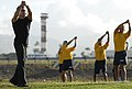 US Navy 101117-N-7498L-321 Sailors assigned to Afloat Training Group, Middle Pacific, attend a special fitness training session with Gilad Janklow.jpg