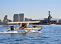 US Navy 110211-N-2688M-142 A functional replica of a Curtiss A-1 Triad seaplane skims the water in San Diego Bay.jpg
