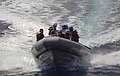 US Navy 110519-N-AQ172-129 Sailors ride in a rigid-hull inflatable boat during small boat training in the Mediterranean Sea.jpg