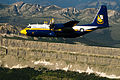 US Navy 110729-N-BA418-126 Fat Albert, a C-130 Hercules aircraft assigned to the U.S. Navy flight demonstration squadron, the Blue Angels.jpg