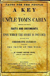 <i>A Key to Uncle Toms Cabin</i> Book by Harriet Beecher Stowe