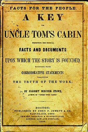 A Key to Uncle Tom's Cabin - Cover of the 1854 edition
