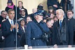 United States Air Force Band passes presidential reviewing stand 130121-Z-QU230-347.jpg