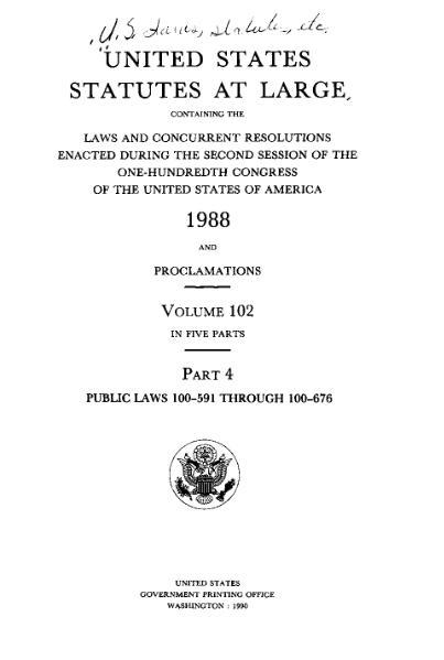File:United States Statutes at Large Volume 102 Part 4.djvu