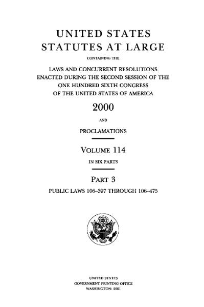 File:United States Statutes at Large Volume 114 Part 3.djvu