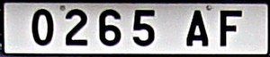 Vehicle registration plates of Madagascar - License plate of Toamasina. White license plate with black lettering were resolved until 2014.