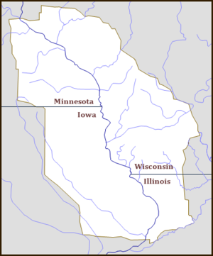Upper Mississippi River Valley AVA - The Upper Mississippi River Valley AVA in NW Illinois, NE Iowa, SE Minnesota and SW Wisconsin.