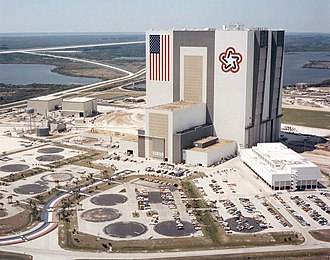 United States Bicentennial - NASA's Vehicle Assembly Building in 1977