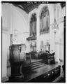 VIEW OF PULPIT, CHOIR SEATS AND ORGAN PIPES. - Knowles Memorial Chapel, 1100 Holt Avenue, Winter Park, Orange County, FL HABS FLA,48-WIPA,1-18.tif