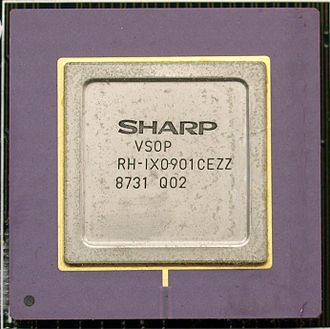 X68000 - VSOP Video Processing Chipset in the Sharp X68000 Computer. Original 1987 CZ-600C model