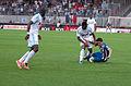 Valais Cup 2013 - OM-FC Porto 13-07-2013 - Rod Fanni, Rafidine Abdullah et Josué 1.jpg