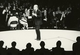 Valley Forge Music Fair - President Gerald Ford holds a campaign rally at the venue in 1976