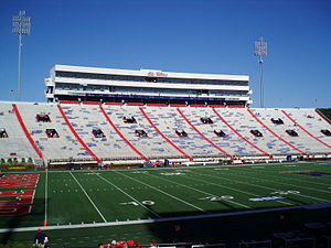 Vaught–Hemingway Stadium - The press box was added in a renovation in 1988