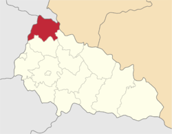 Vị trí của huyện Velykyy Bereznyi trong tỉnh Zakarpattia